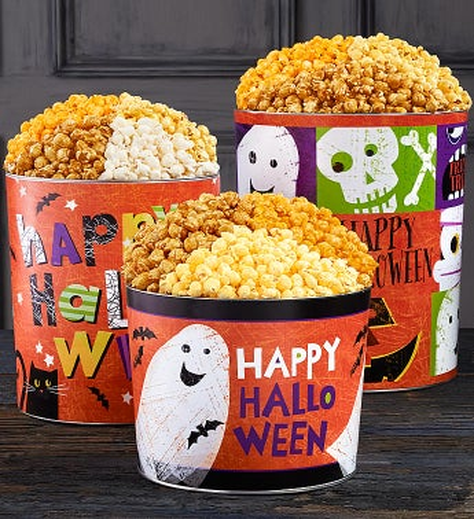 Ghostly Gala Popcorn Tins