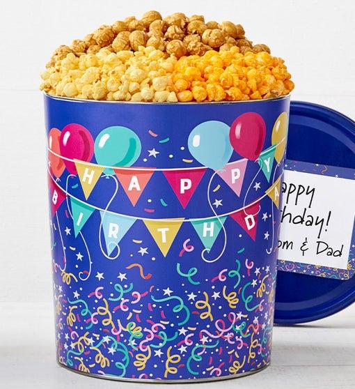 Birthday Balloons Popcorn Tins