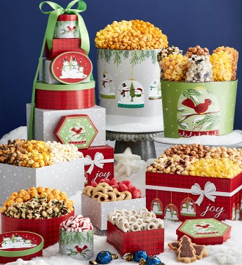 Magical Holiday 8-Tier Tower and 2 Popcorn Tins