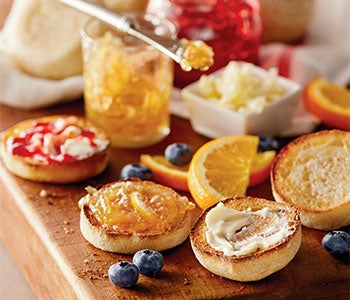 Shop Wolferman's English muffins and English muffin breads.