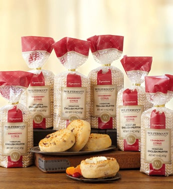 Cranberry Citrus Signature English Muffins - Six Packages