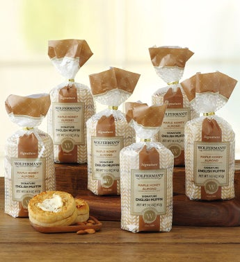 Maple Almond-Flavored Super-Thick English Muffins - 6 Packages