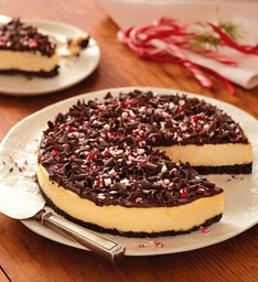 Dark Chocolate Peppermint Cheesecake