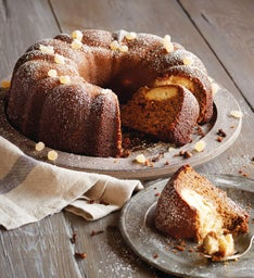 Ginger Bundt Cake with Cheesecake Filling