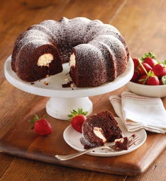 Double Chocolate Bundt Cake with Cheesecake Filling