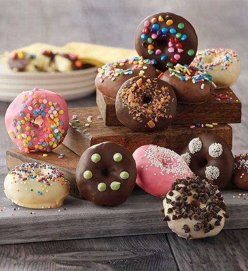 Chocolate-Dipped Mini Donuts