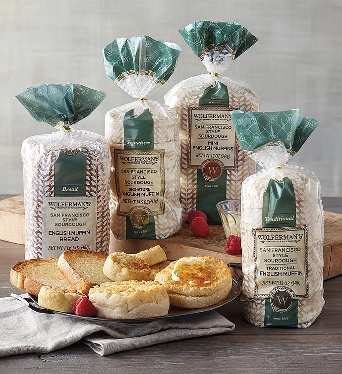 San Francisco-Style Sourdough English Muffin Variety Assortment