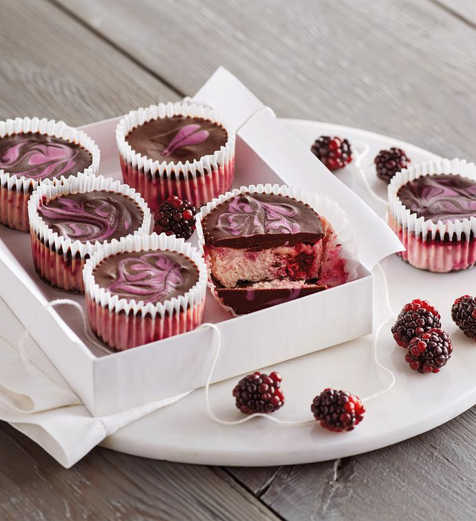 Marionberry Cheesecake Cupcakes
