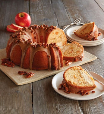 Apple Bundt Cake with Maple Cheesecake Filling