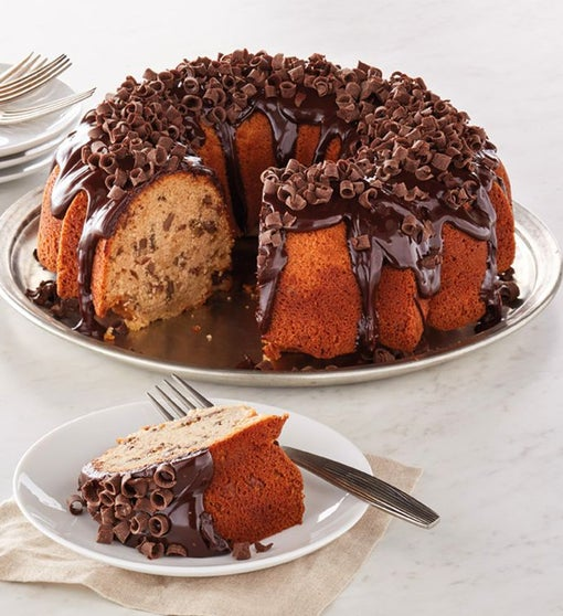 Banana and Chocolate Bundt Cake