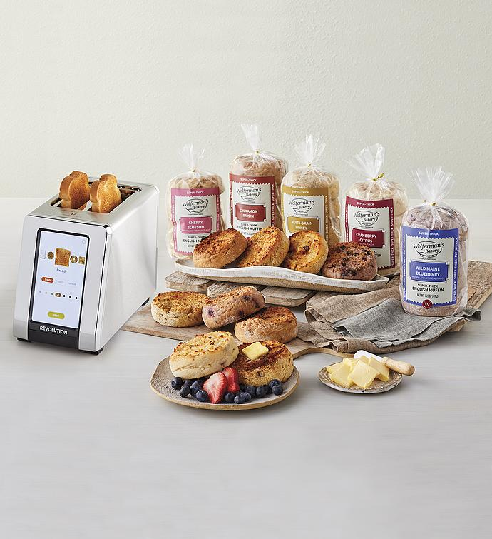 Revolution Toaster and Super-Thick English Muffin - 5 Packages
