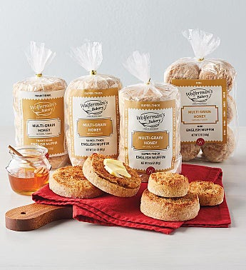 Multi-Grain Honey Wheat English Muffin Variety Assortment