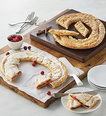Pumpkin Spice and Cranberry Kringle Wreath Duo