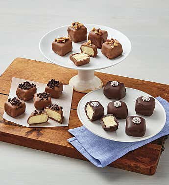 Chocolate-Dipped Cheesecake Bites