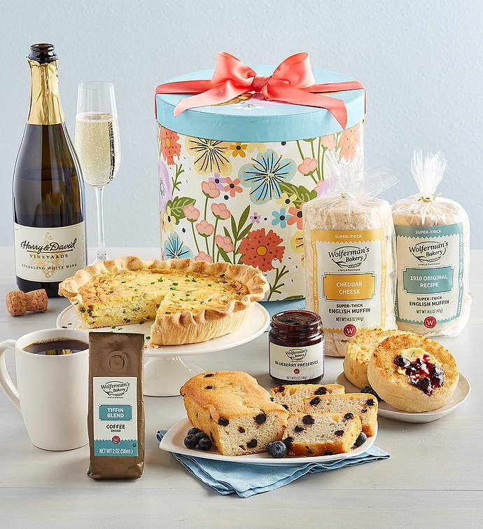 Mother's Day Brunch Gift Box with Wine